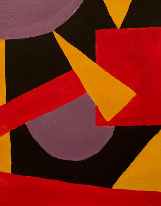 """4-3-2"" / acrylic- painting on cardboard – 30 x 20"