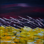 """surf"" / acrylic mixed media on canvas – 50 x 70"